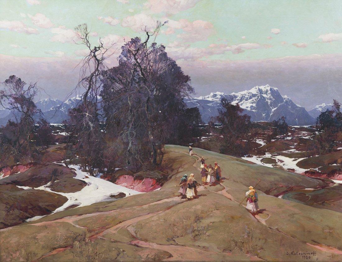 STEPAN FEDOROVICH KOLESNIKOFF (RUSSIAN 1879-1955)  A