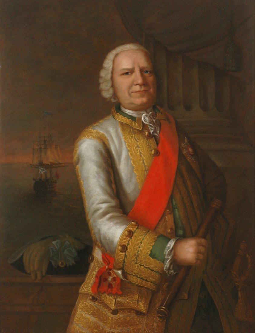 RUSSIAN 18TH CENTURY PORTRAIT OF GOLITSYN