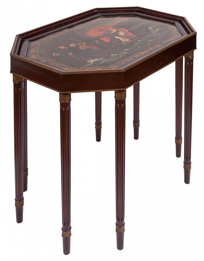 RUSSIAN EMPIRE PERIOD LACQUERED TRAY TABLE, FIRST