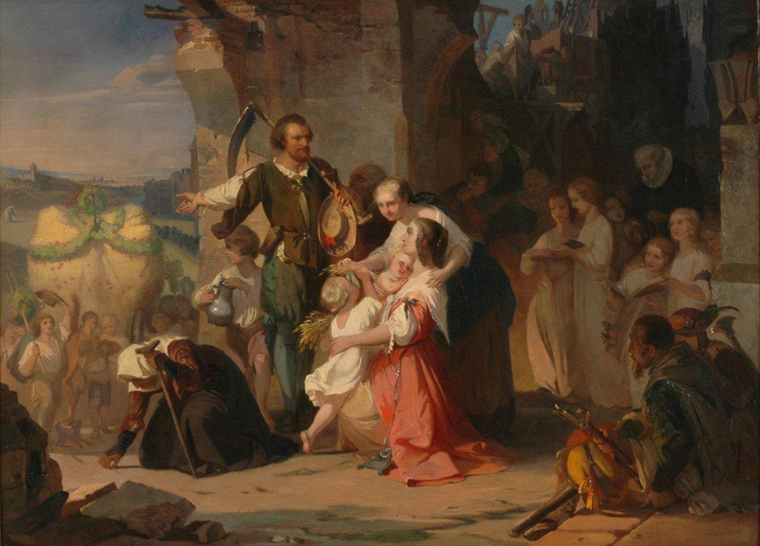 AUGUST VON KRELING (GERMAN 1819-1876)  First Harvest