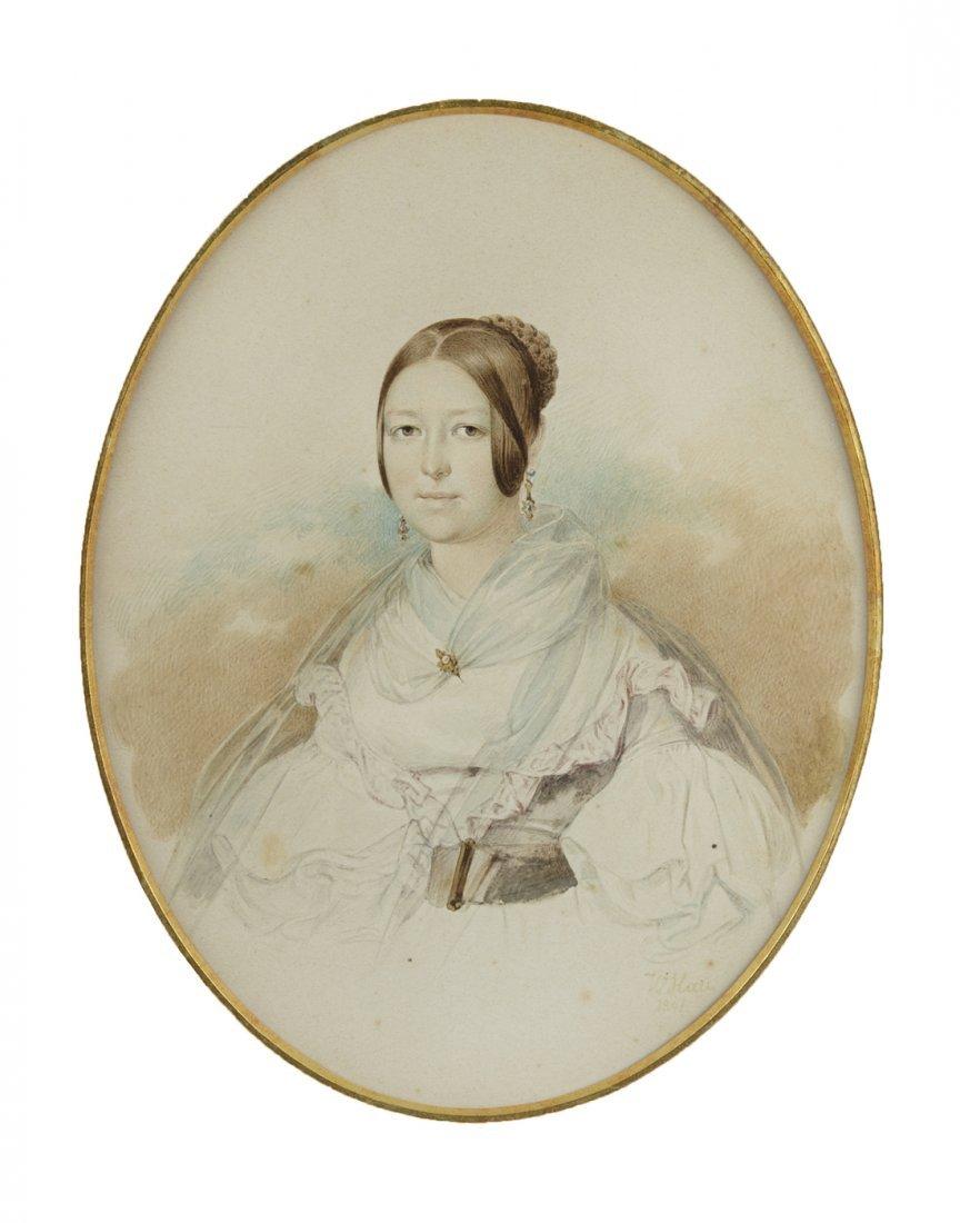 VLADIMIR IVANOVICH HAU [GAU] (RUSSIAN 1817-1895)  Woman