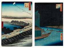 A GROUP OF TWO UKIYOE PRINTS FROM THE SERIES ONE
