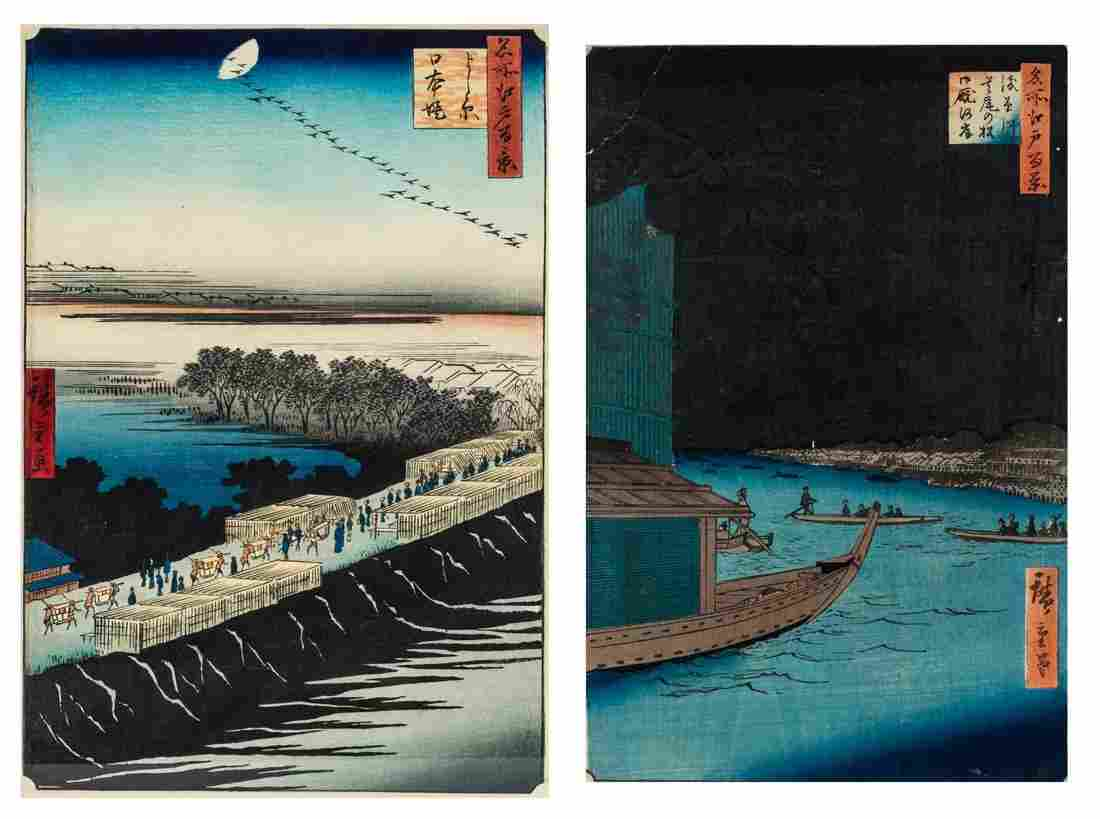 A GROUP OF TWO UKIYO-E PRINTS FROM THE SERIES ONE