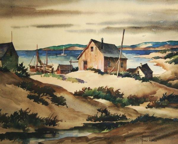 2: JOHN HARE 1908-1978 Provincetown Mass Painting