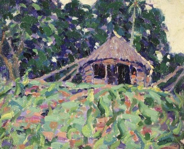 3: JOHN BENTLEY 1880-1951 American Oil Painting Samoa