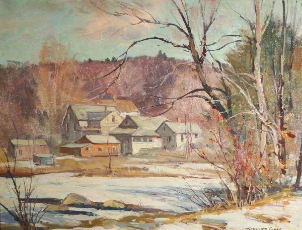 6: BERNARD COREY b1914 Millbury Mass Oil Painting