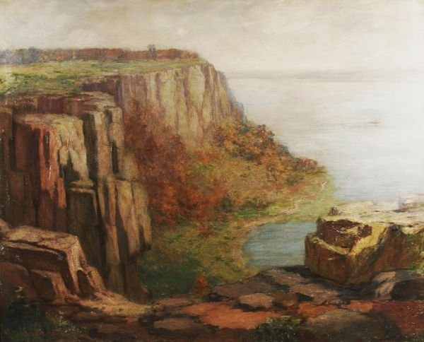 8: FREDERICK BOSTON 1855-1932 Palisades Oil Painting
