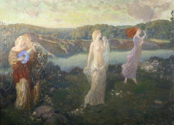 11: GERALD LEAKE 1885-1975 American Oil Painting