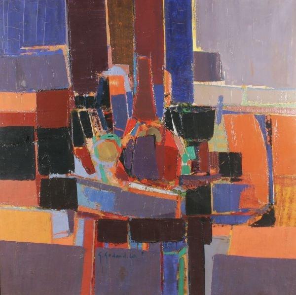 22: GABRIEL GODARD b1933 French Modern Oil Painting