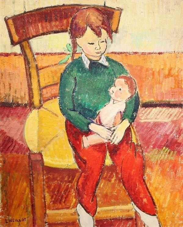 24: LOUIS NEILLOT b1898 French Modernist Oil Painting
