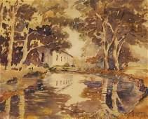 138: A.C. GOODWIN b1864 American Oil Painting Boston