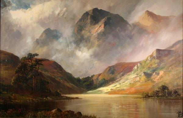 235: JOEL OWEN British Oil Painting Scotland Loch