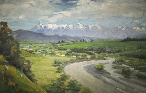 319: PETER BEADLE Oil Painting New Zealand Sheep