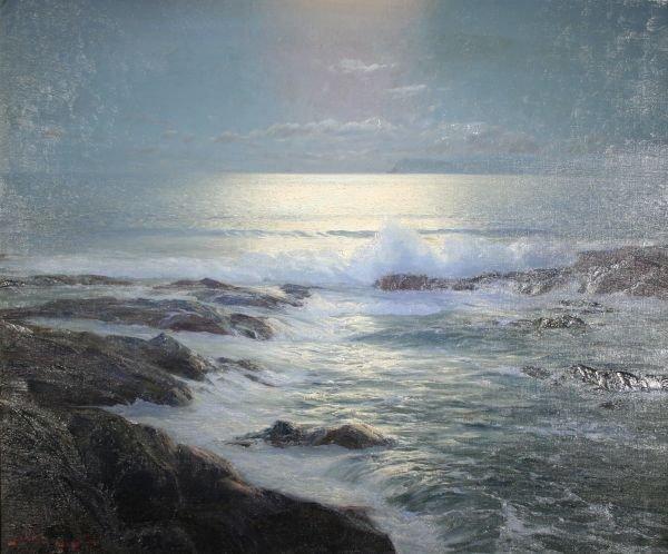 376: LEONARD LANE British Canadian Oil Painting