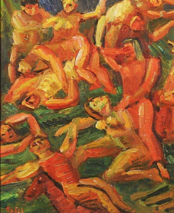 379: JENNINGS TOFEL b1891 Painting Ex Hirshhorn Museum