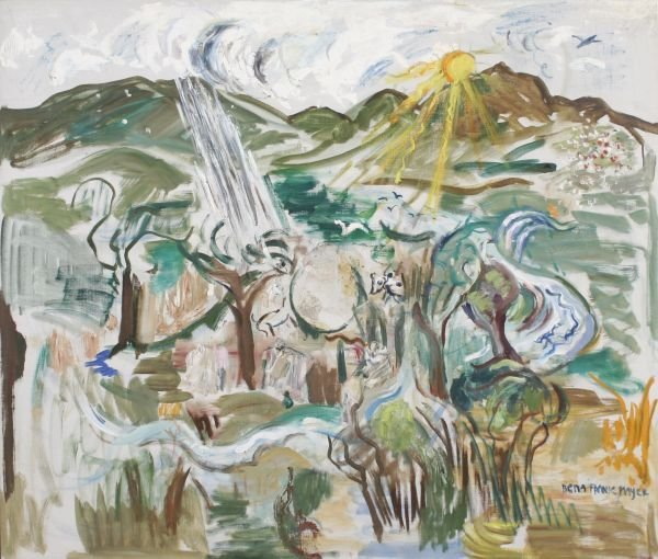 383: BENA FRANK MAYER b1900 Oil Painting Woman Artist
