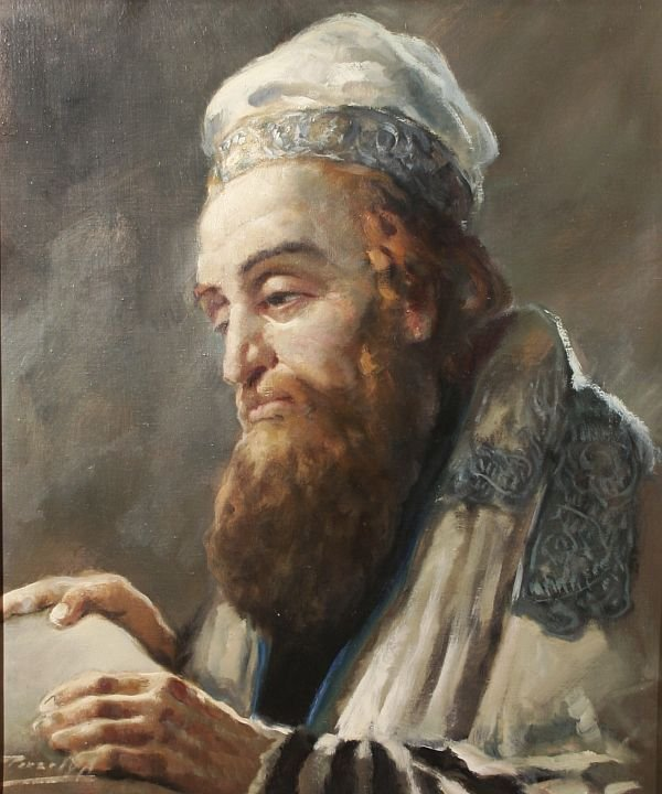 385: ANTAL PECZELY b1891 Hungarian Oil Painting Jewish