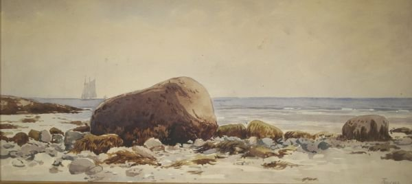 390: ALFRED THOMPSON BRICHER b1837 Watercolor Painting