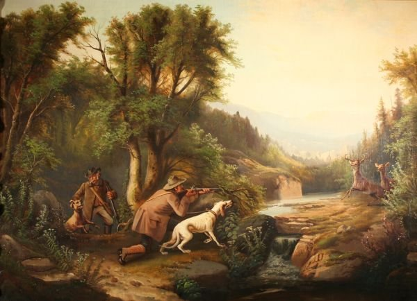 393: A.F. TAIT b1819 Manner of Oil Painting Hunt