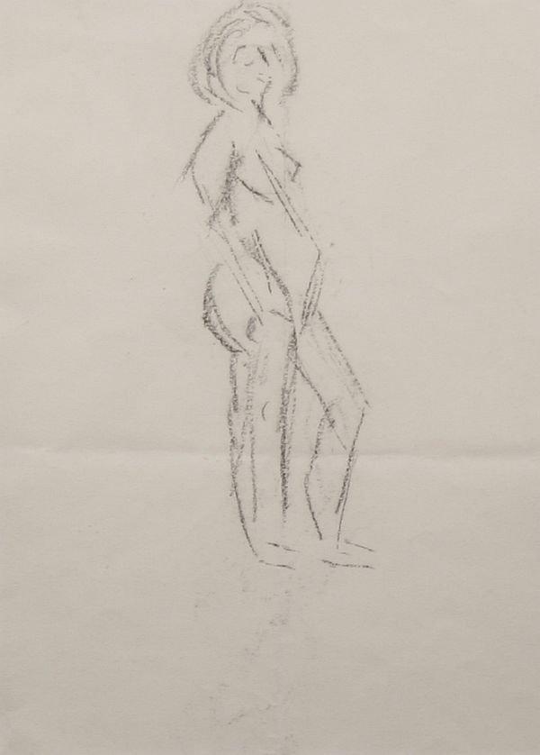 399: MAX WEBER b1881 Drawing Nude w Prov