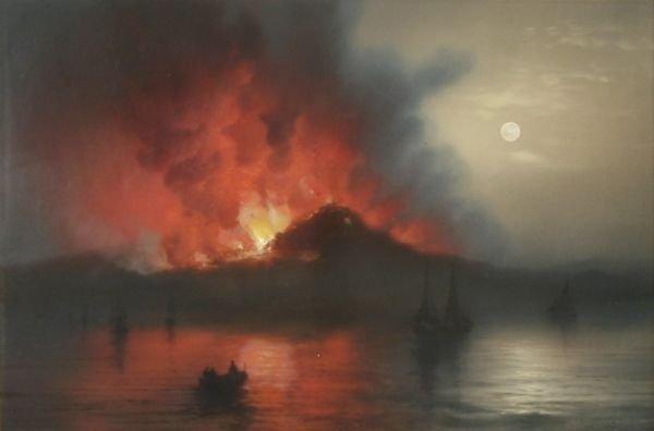 526: GIOACCHINO LAPIRA b1839 Italian Naples Painting