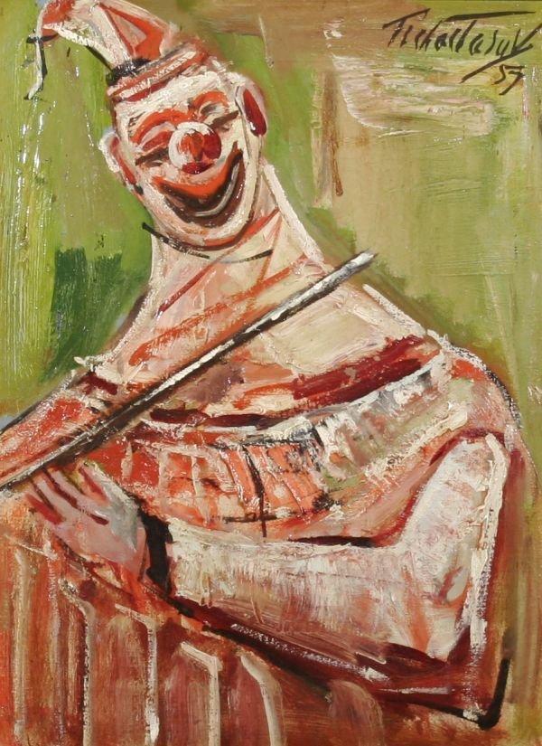 590: NAHUM TSCHACBASOV b1899 Oil Painting WPA Artist