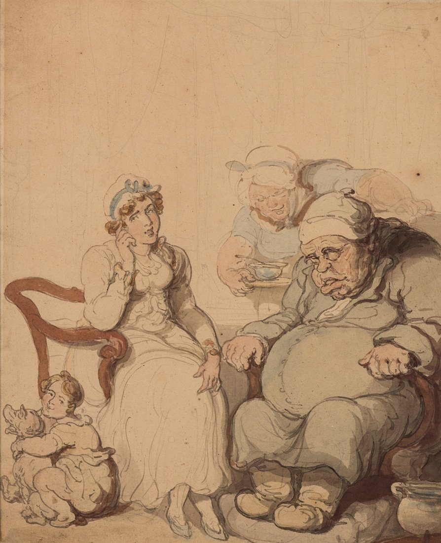 ATTRIBUTED TO THOMAS ROWLANDSON (BRITISH 1756-1827)