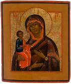 A RUSSIAN ICON OF THE THREEHANDED MOTHER OF GOD 19TH