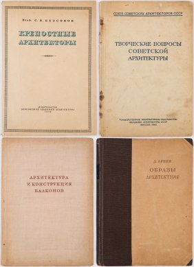 A Group Of Four Books On Soviet Architecture