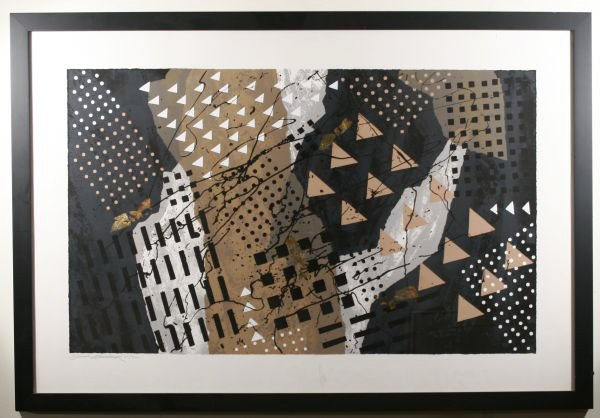 1: Framed Abstract Signed Large Lim.Ed.