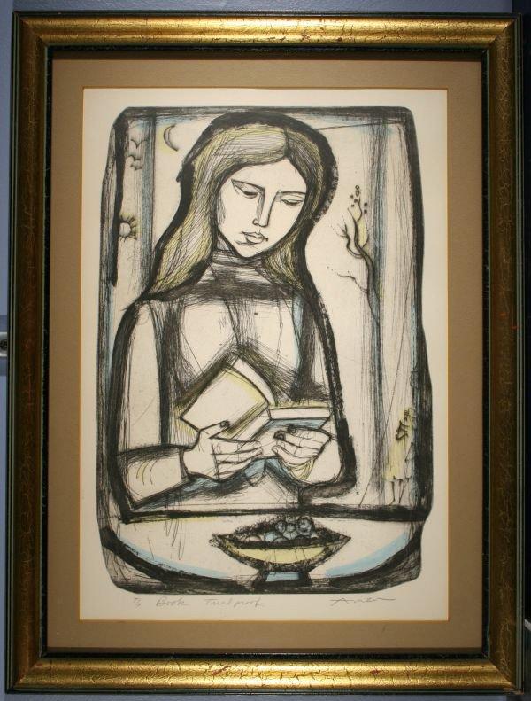 2: IRVING AMEN Jewish Girl Reading Book Lim.Ed.