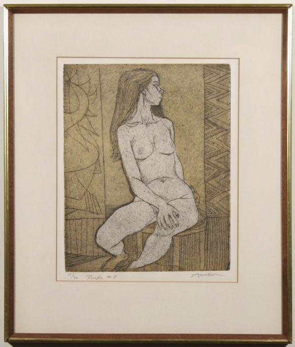 10: IRVING AMEN Nude #8 Seated Girl Lim.Ed.