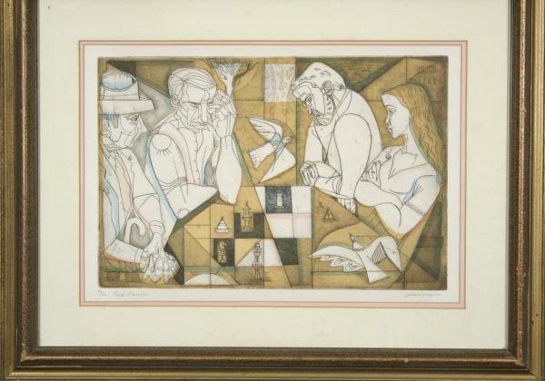 12: IRVING AMEN B1918 Lim.Ed. Chess Art Endgame