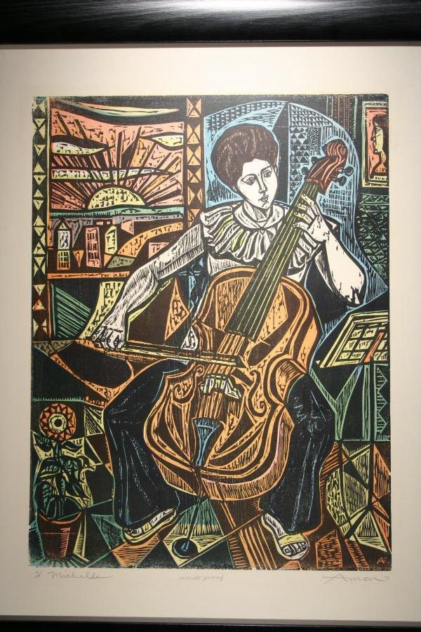 17: IRVING AMEN B1918 Lim.Ed. Print Michelle Cello
