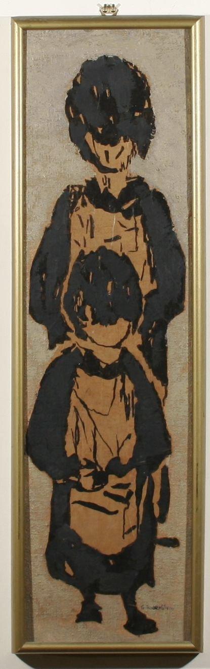 208: SADIE ROSENBLUM B1899 Oil Painting Children
