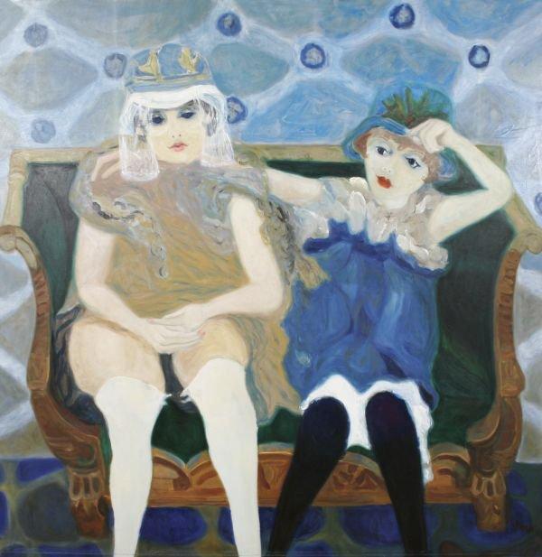 265: BERNARD STERN B1920 Oil Painting