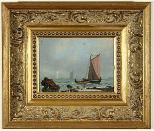 1124: CHARLES HENRY GIFFORD B1839 Painting New Bedford