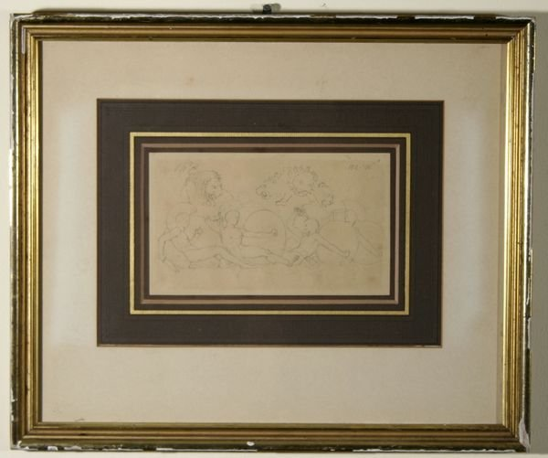 1338: JOHN FLAXMAN B1755 British Antique Drawing