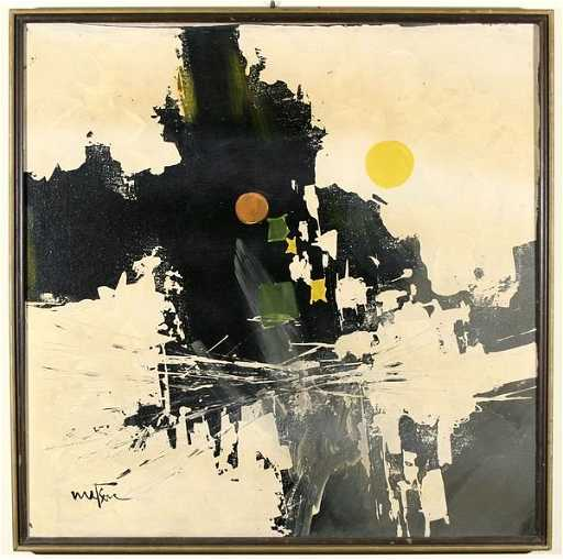 1357 Matson Abstract Expressionist Oil Painting