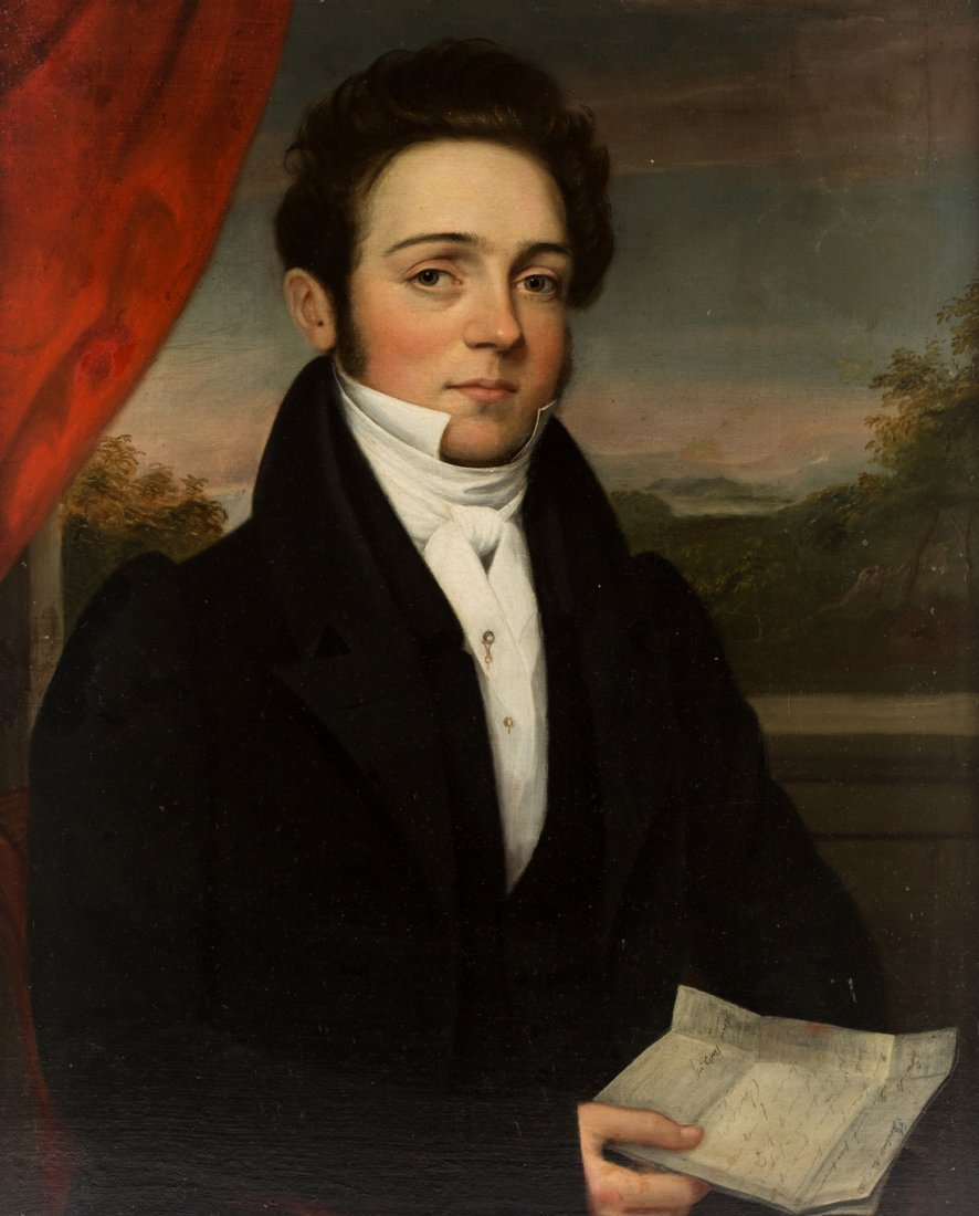 AMERICAN PORTRAIT OF A GENTLEMAN, EARLY 19TH CENTURY