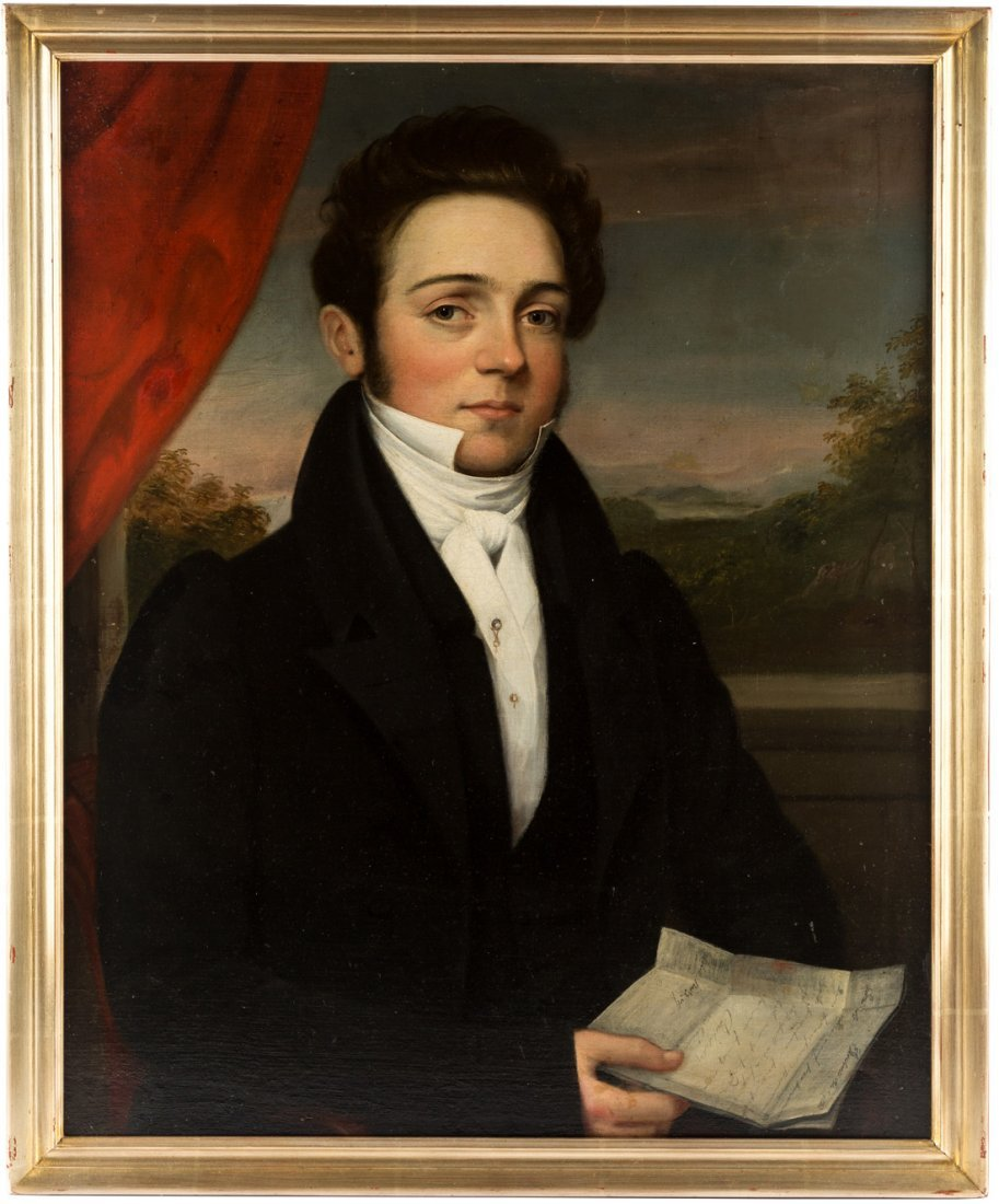 AMERICAN PORTRAIT OF A GENTLEMAN, EARLY 19TH CENTURY - 2