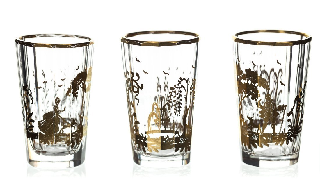 A SET OF TEN SHOT GLASSES, AFTER A POTEMKIN GLASS - 2