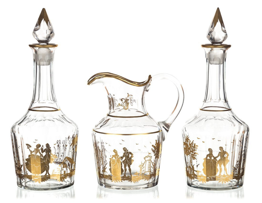 A SET OF TWO DECANTERS AND A PITCHER, AFTER A POTEMKIN