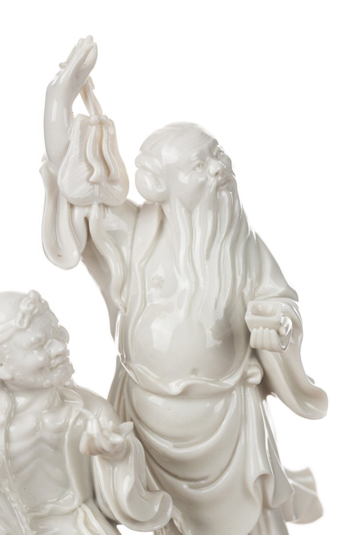 A GROUP OF THREE BLANC-DE-CHINE FIGURES - 4