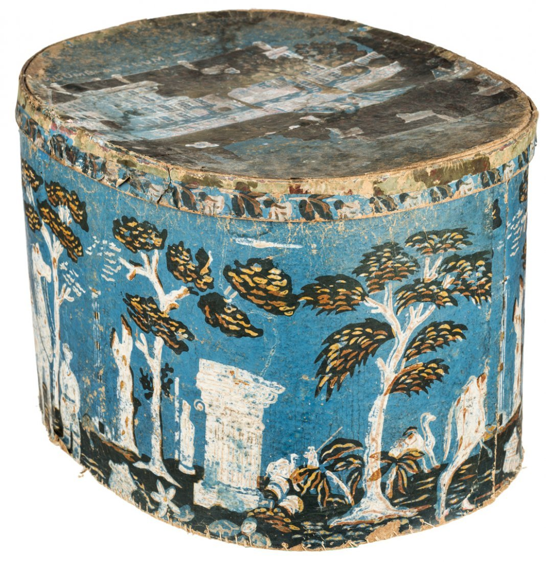 AMERICAN 19TH CENTURY OUTSIDER ART HATBOX FEATURING - 3