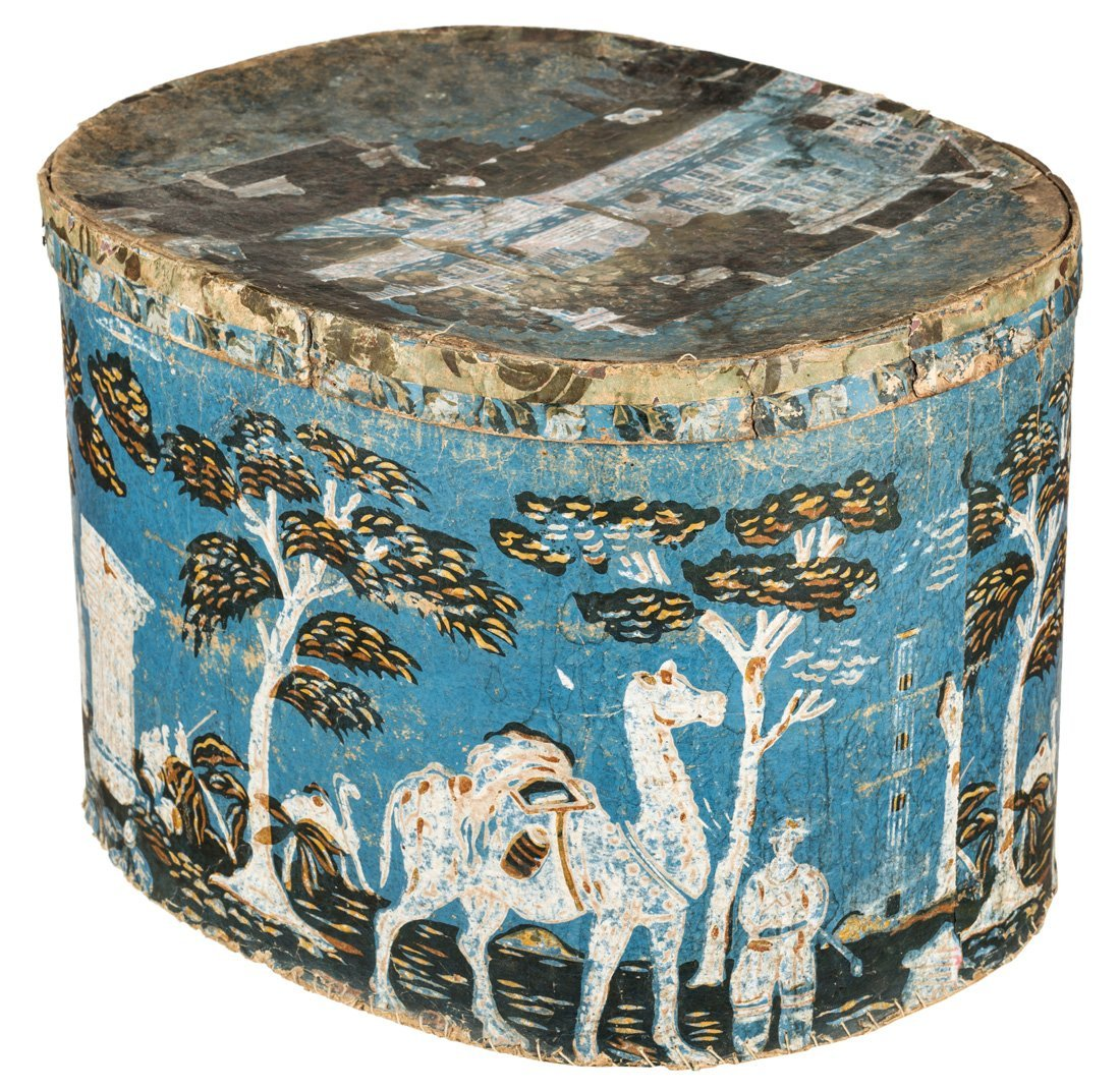 AMERICAN 19TH CENTURY OUTSIDER ART HATBOX FEATURING - 4