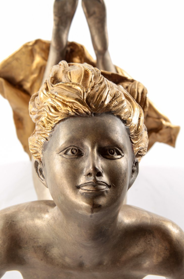 A French Bronze and Parcel Gilt Figure, A. Moreau - 7