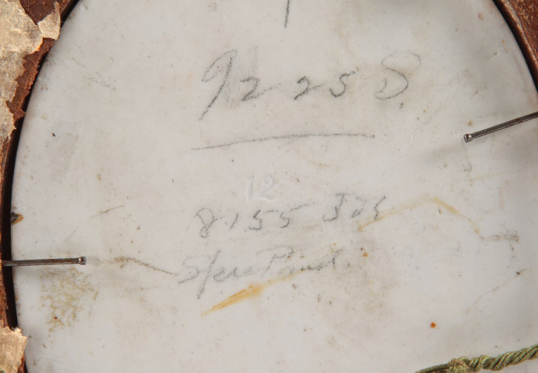 GERMAN PORCELAIN PLAQUE SIGNED WAGNER 19TH CENTURY - 5