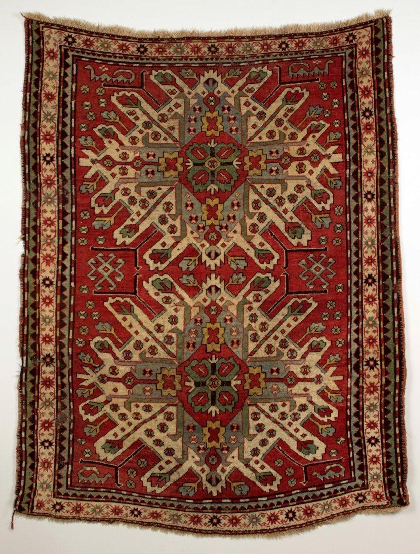 Caucasus Eagle Kazak Rug 19th Century