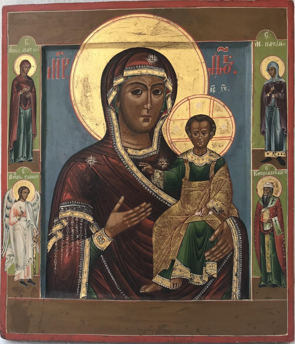 Russian Icon Smolenskaya Mother of God, Russia 19th